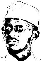 Shabaab-Chef Abu Zubeir (Zeichnung © Der Standard)