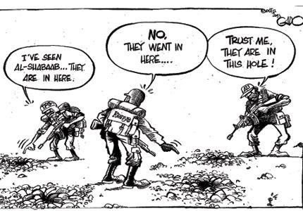 Von den Tätern fehlt bis heute jede Spur (http://gadocartoons.com/where-did-the-terrorists-go/)