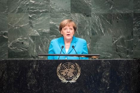 Bundeskanzlerin Angela Merkel bei der UN-Generalversammlung (Photo © UN Photo)
